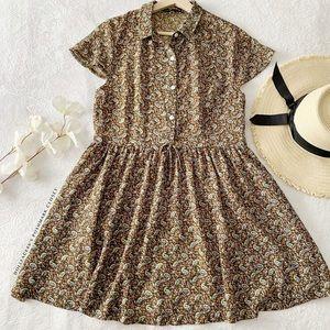 Paisley Print Semi Sheer Dress